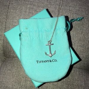 Tiffany and co anchor necklace.